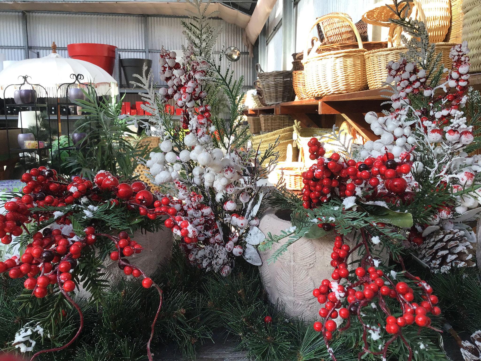Acebo y cestas para decorar en Navidad – Natura Garden