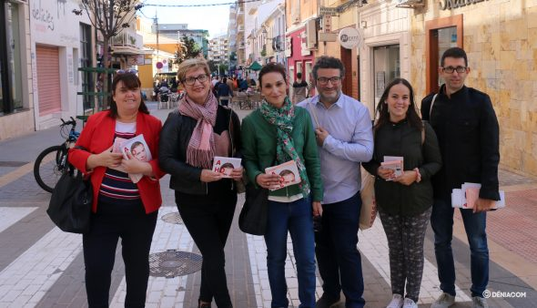 Imagen: Candidatas por Alicante junto a representantes municipales del PSPV
