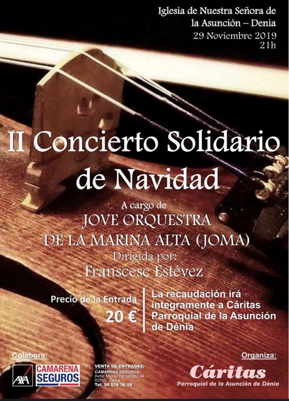 Imagen: Cartel del concierto de Navidad de Cáritas