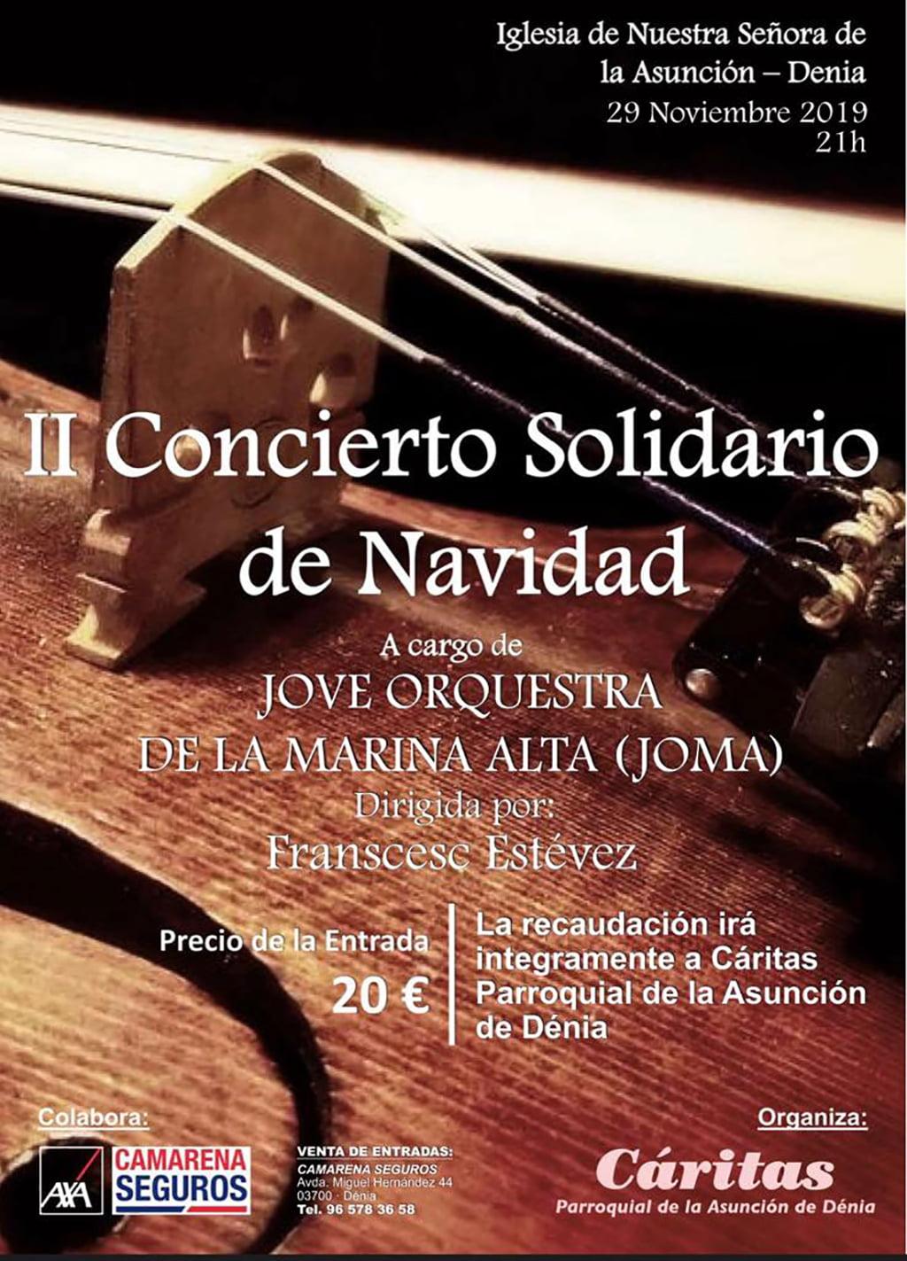 Cartel del concierto de Navidad de Cáritas