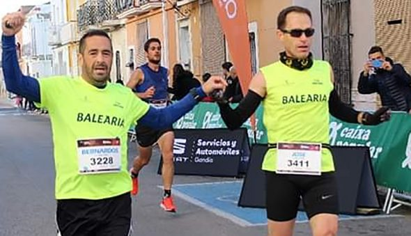 Image: Two athletes from Dénia Run in Beniarjó