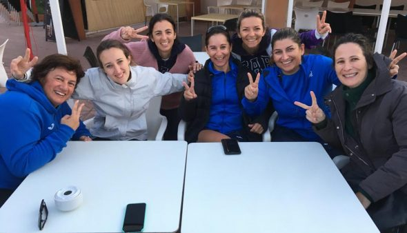Imagen: Equipo femenino de pádel del Club Tenis Dénia