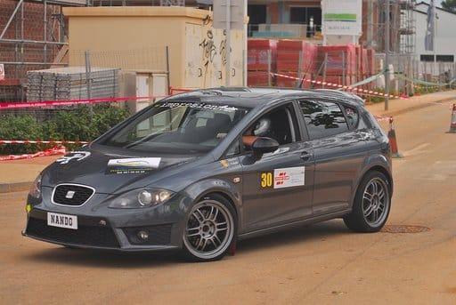 Imagen: Fernando Martín con su coche