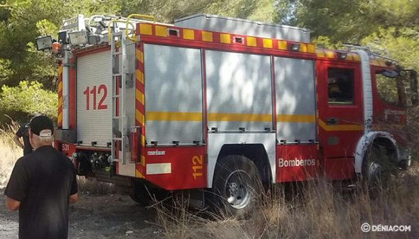 Image: Stock image of fire truck in Xàbia