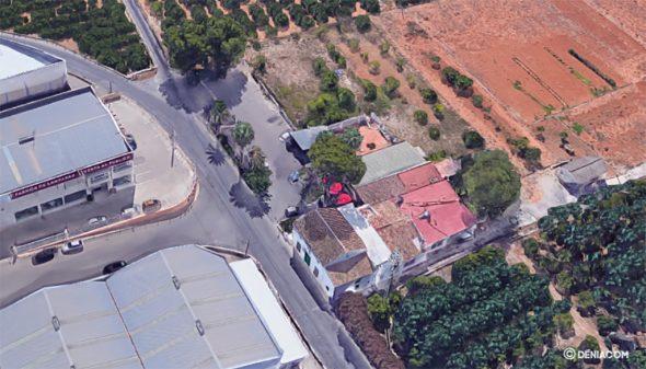 Изображение: приблизительное место аварии