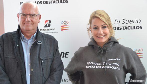 Imagen: Lydia Valentín con Vicent Grimalt