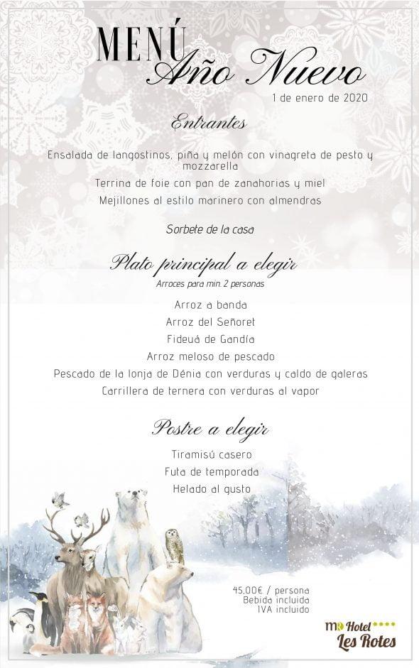 Imagen: Menú de Año Nuevo - Hotel Les Rotes