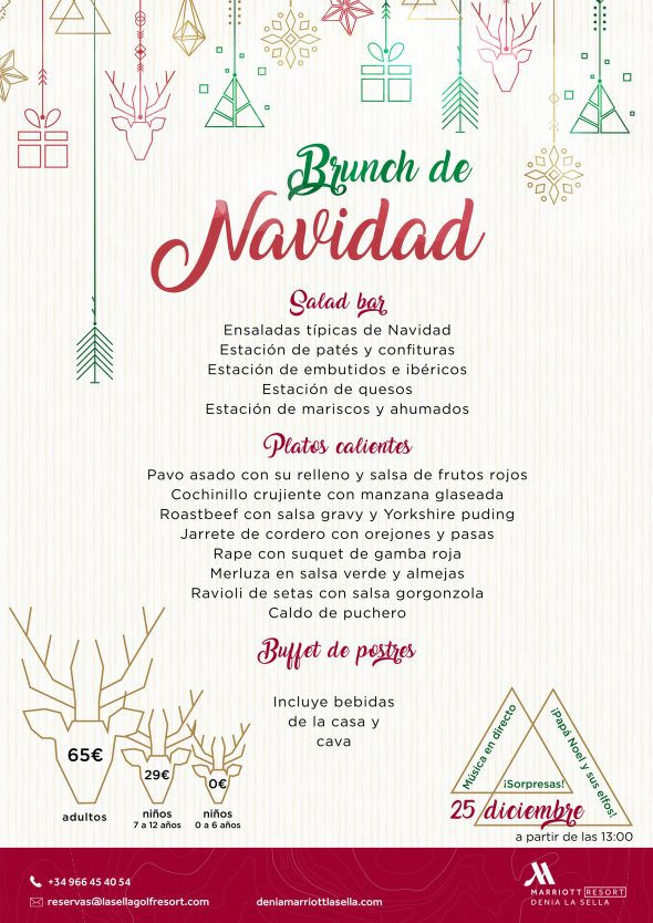 Imatge: Menú de l'Brunch de Nadal de l'Hotel Dénia Marriott La Sella Golf Resort & Spa