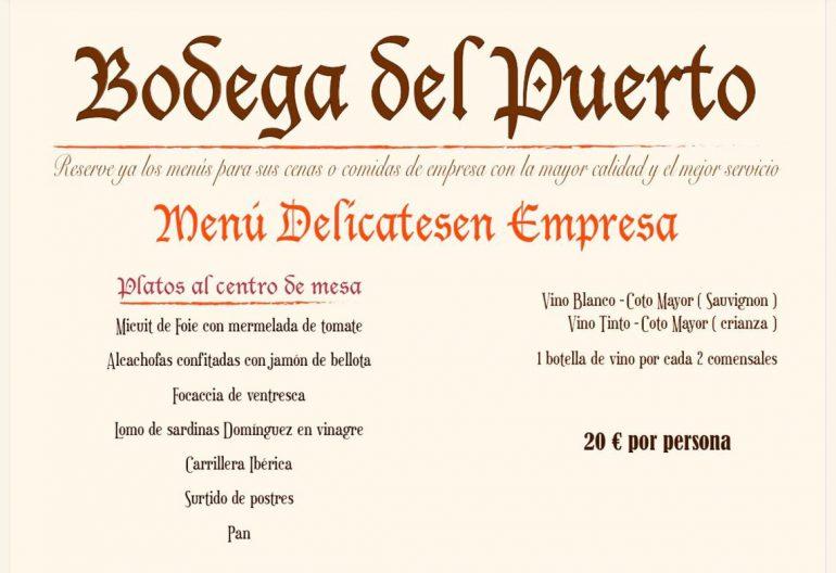 Menu Delicatesen Empresa - Bodega Del Puerto