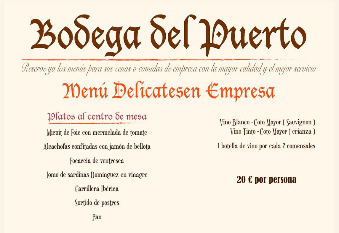 Menu Delicatesen Empresa – Bodega Del Puerto