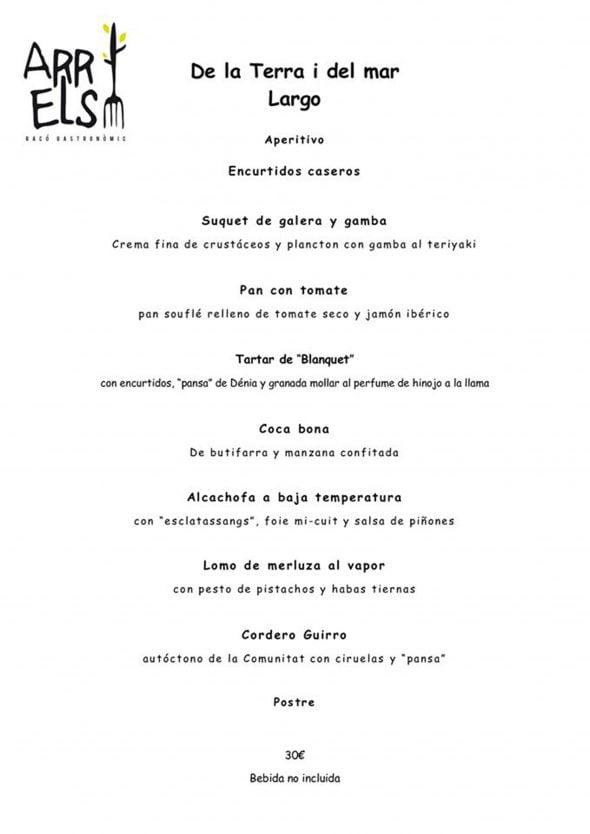 Imagen: Menú de empresa en Arrels Dénia por 26€