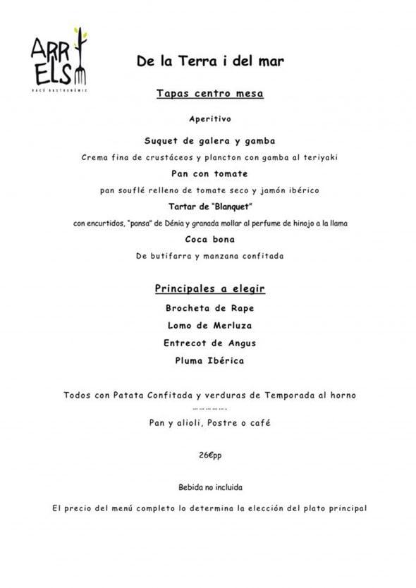 Imagen: Menú de empresa en Arrels Dénia por 30€ por persona