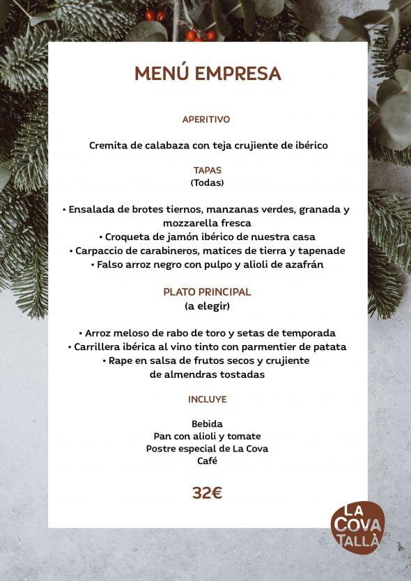 Imagen: Menú de empresa por 32 euros - La Cova Tallà