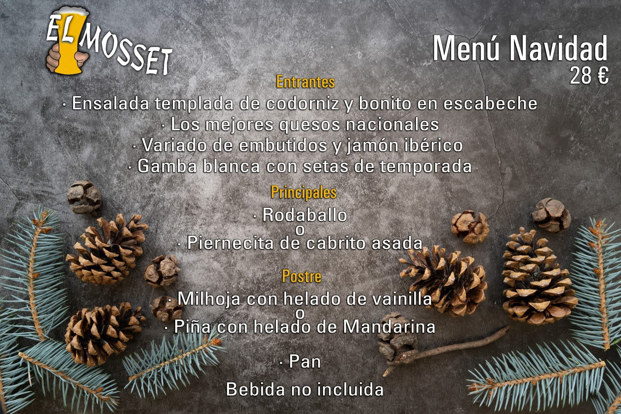 Christmas Menu - The Mosset