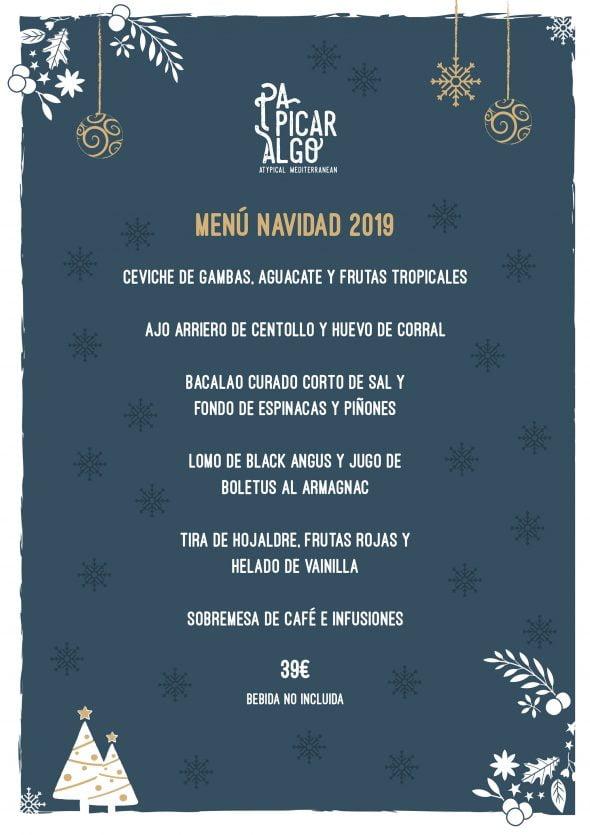 Image: Menu de Noël chez Pa Picar Algo