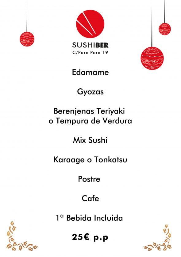 Immagine: menu di Natale a Denia - Sushiber