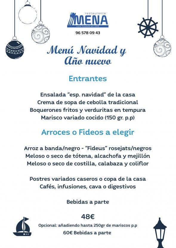 Imagen: Menú de Navidad y Año Nuevo en Dénia - Restaurante Mena