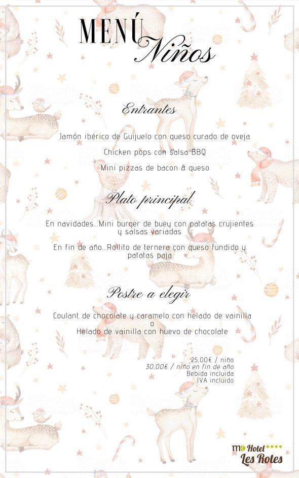 Imagen: Menú para niños para las fechas navideñas - Hotel Les Rotes