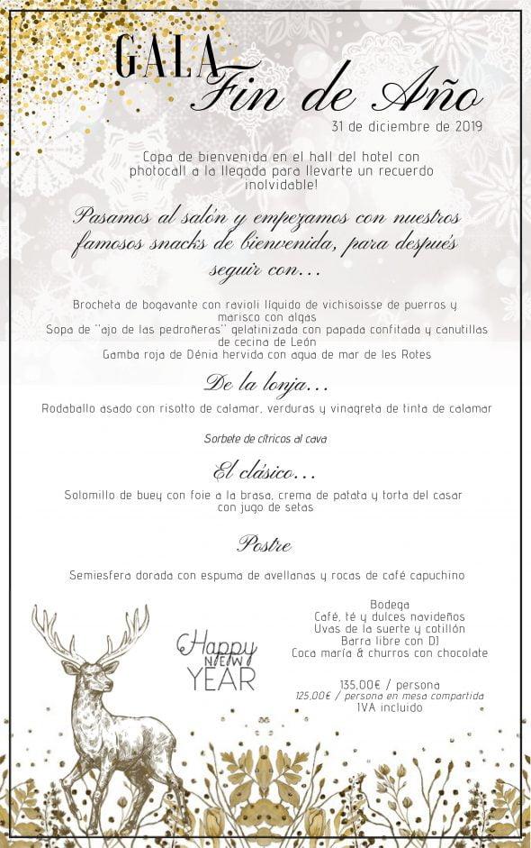 Imagen: Menú de Gran Gala de Fin de Año - Hotel Les Rotes
