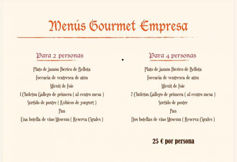 Menús Gourmet empresas Bodega Del Puerto