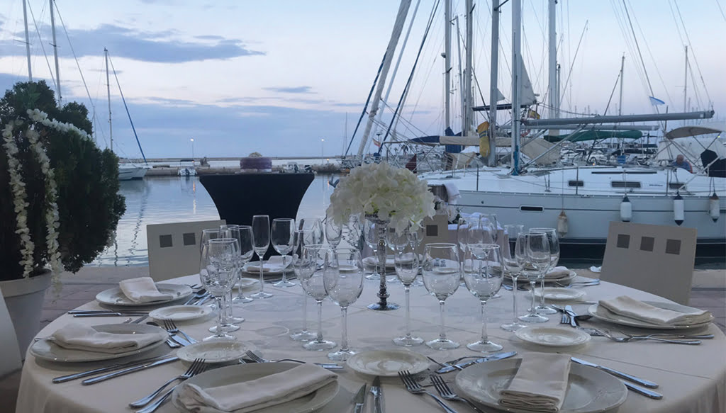 Mesa en el Restaurante Balandros