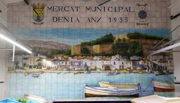 Immagine: nuovo murale di piastrelle nel mercato del pesce di Mercat
