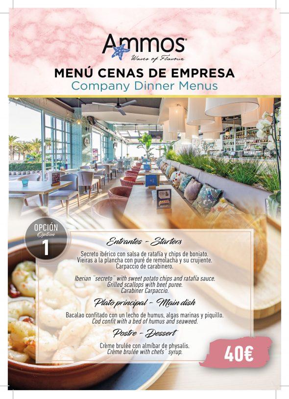 Imagen: Opción 1 de menú de empresa en Restaurante Ammos