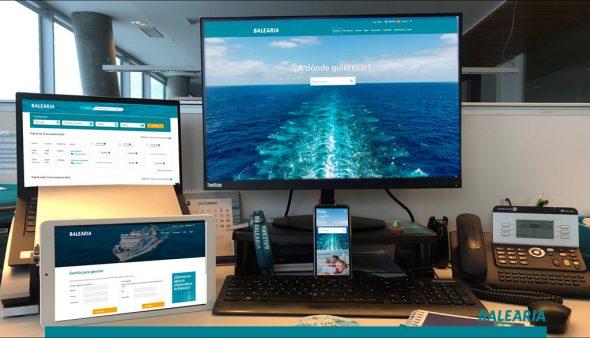 Imatge: Presentació del nou web de Baleària