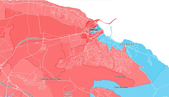 Image: Résultats 10N à Dénia par quartiers