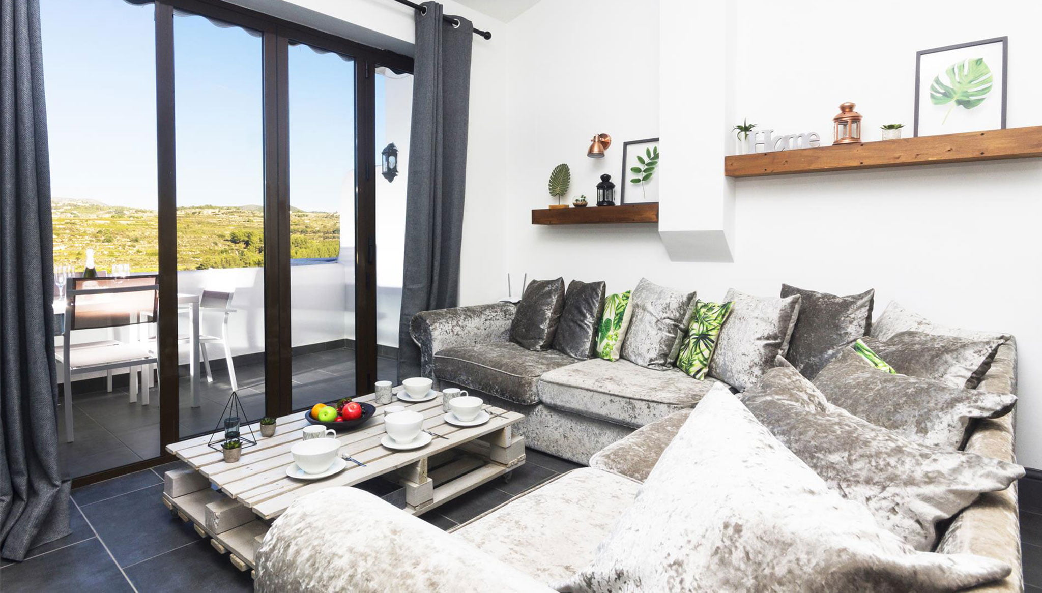 Saló d'un apartament de vacances a Moraira - Aguila Rent a Vila