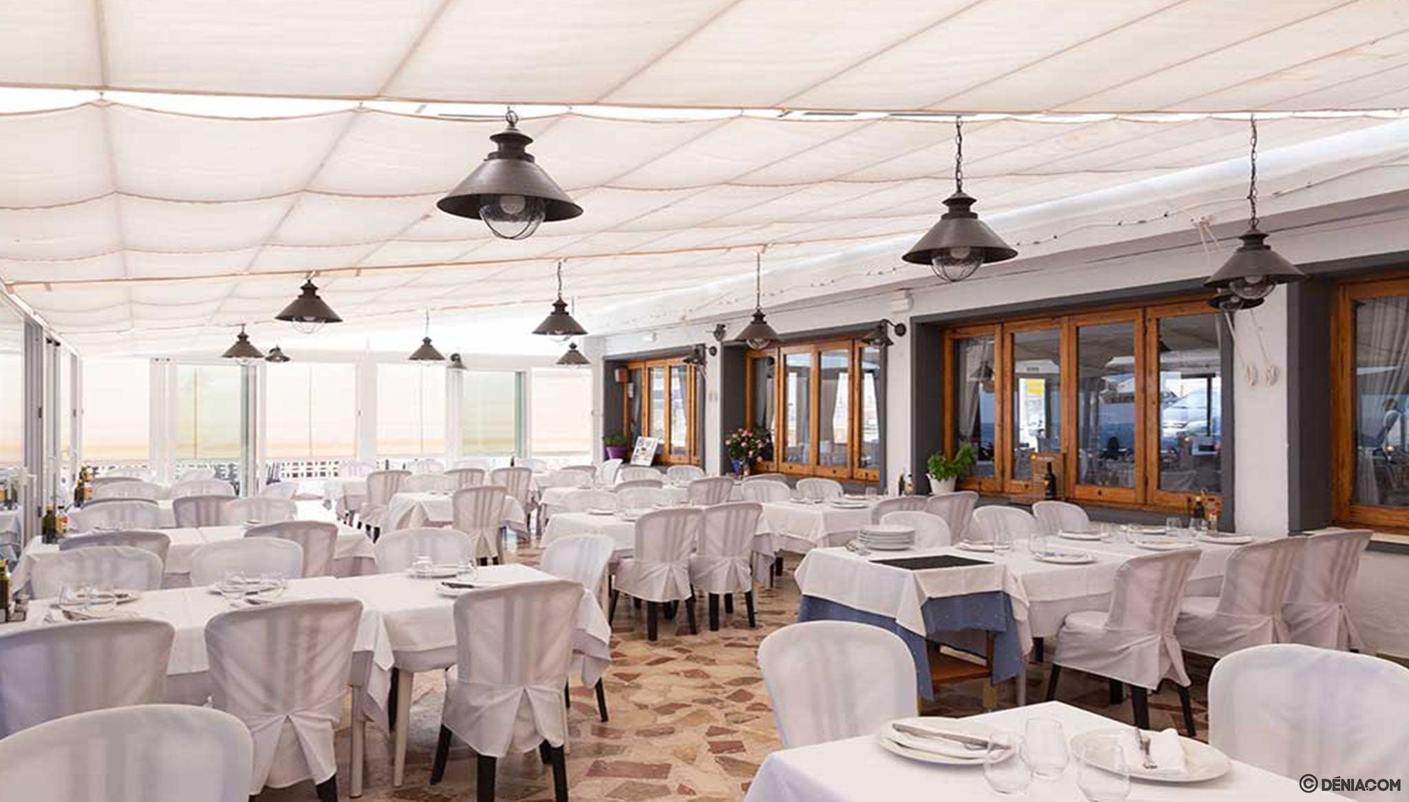 Terrassa interior de el Restaurant Mena