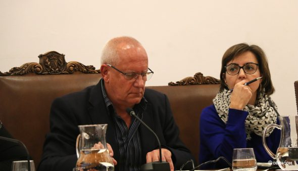 Bild: Vicent Grimalt im Plenum
