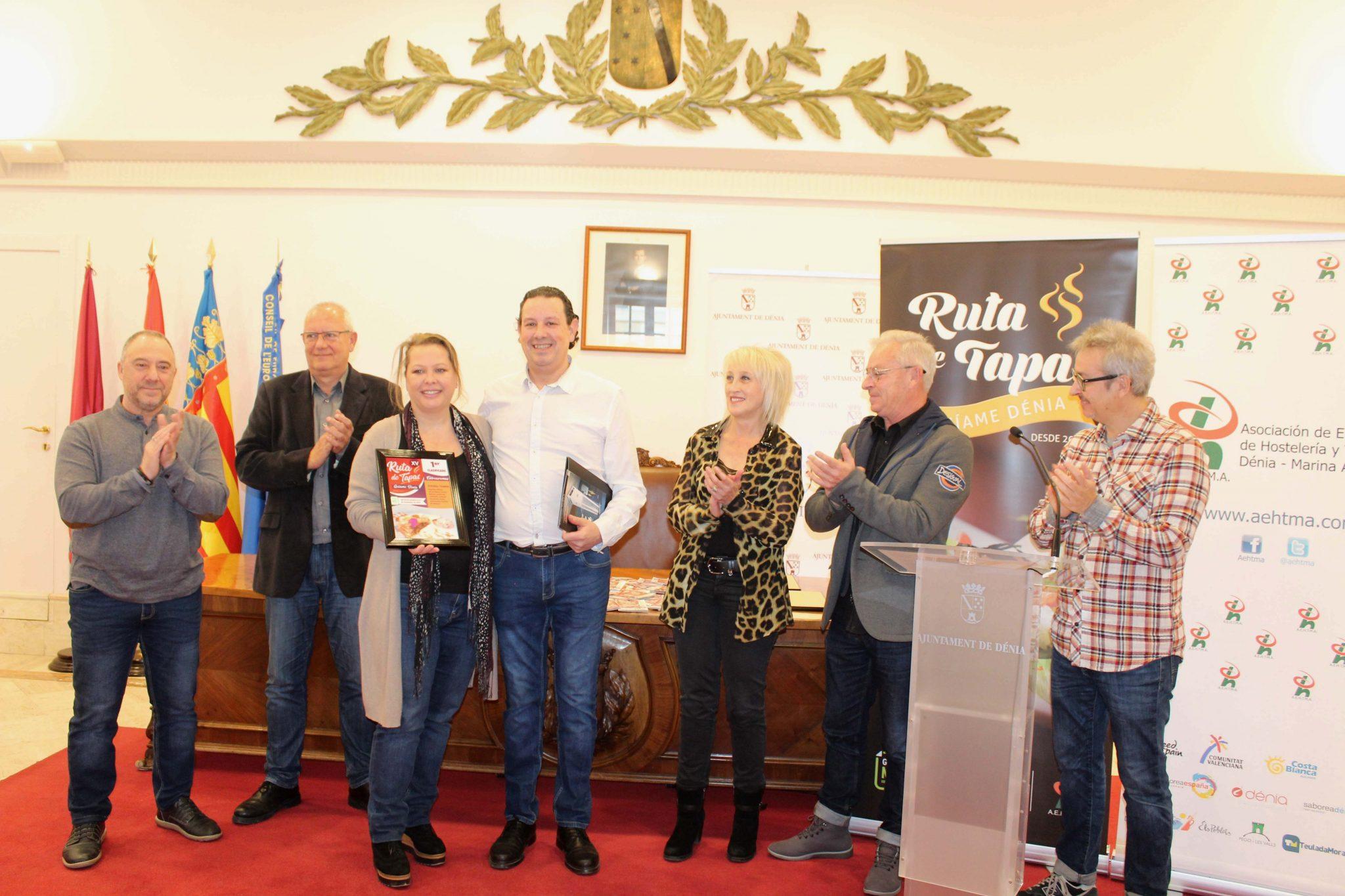 Entrearomas, premier prix de la XVe Route des Tapas de Dénia