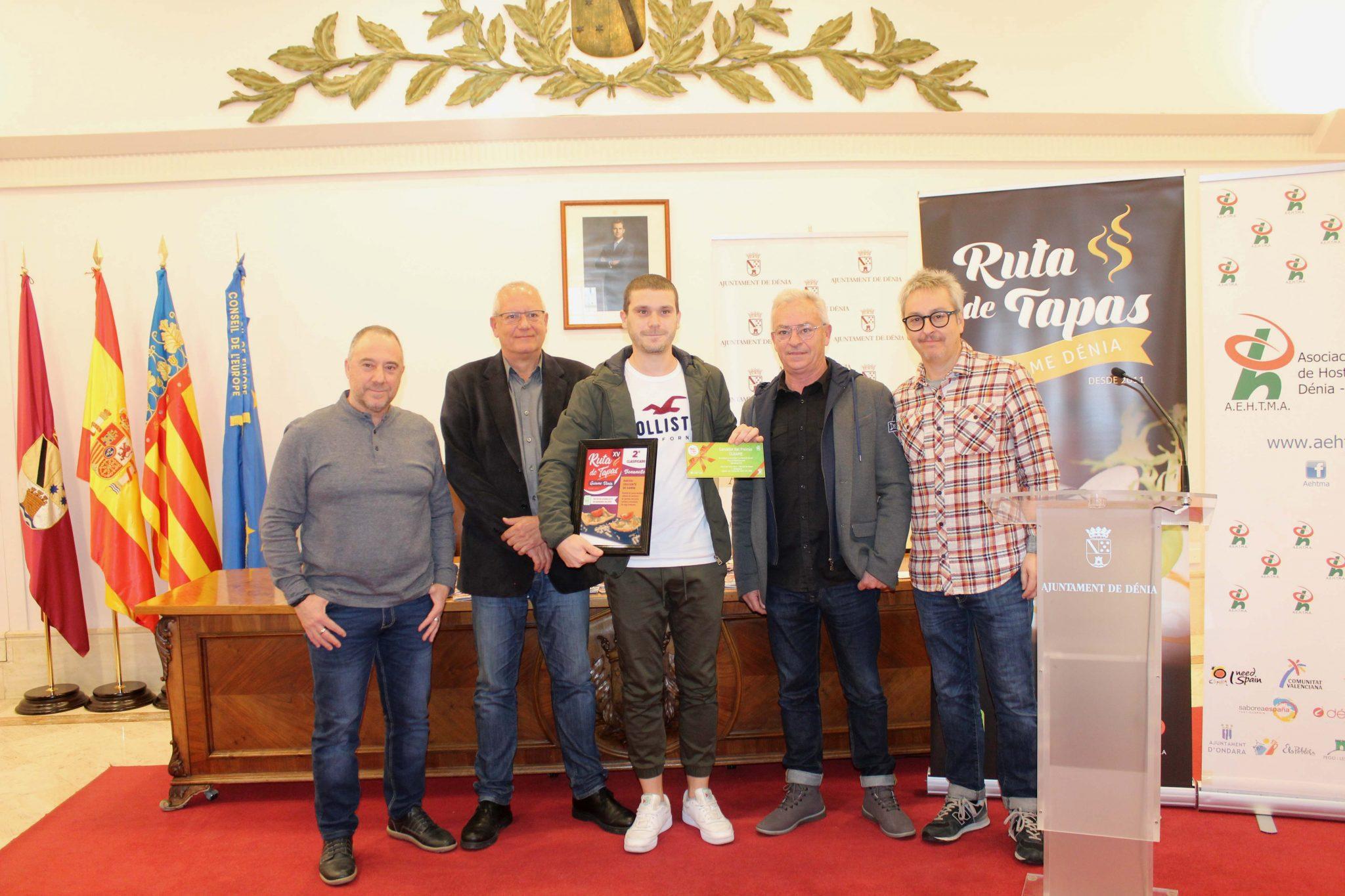 Bonanotte, deuxième place sur la route des tapas de Dénia