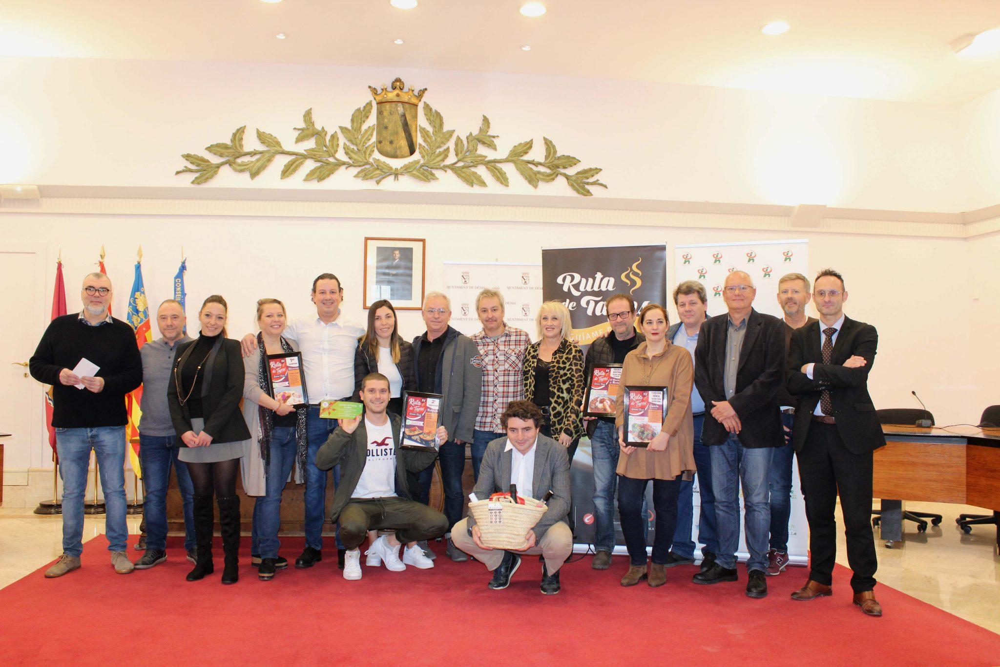 Gagnants de la Route XV Tapas Dénia