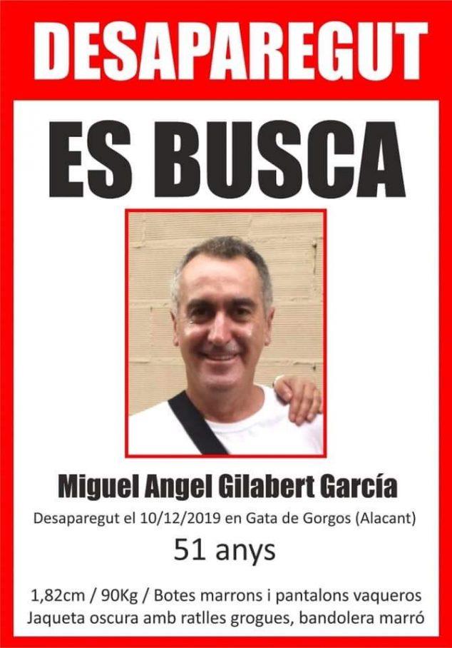 Imagen: Buscan a Miguel Angel Gilabert García