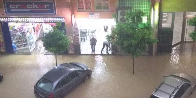 Imagen: Calle inundada en Dénia
