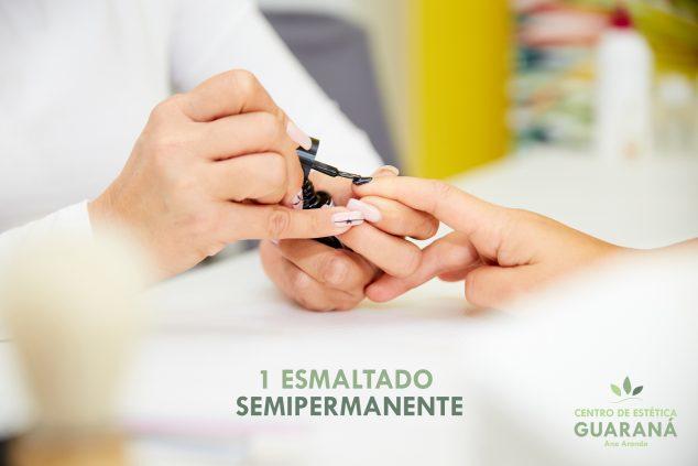 Imagen: Mega Cesta de Navidad 2019 - Centro de estética Guaraná - Un esmaltado de uñas semipermanente