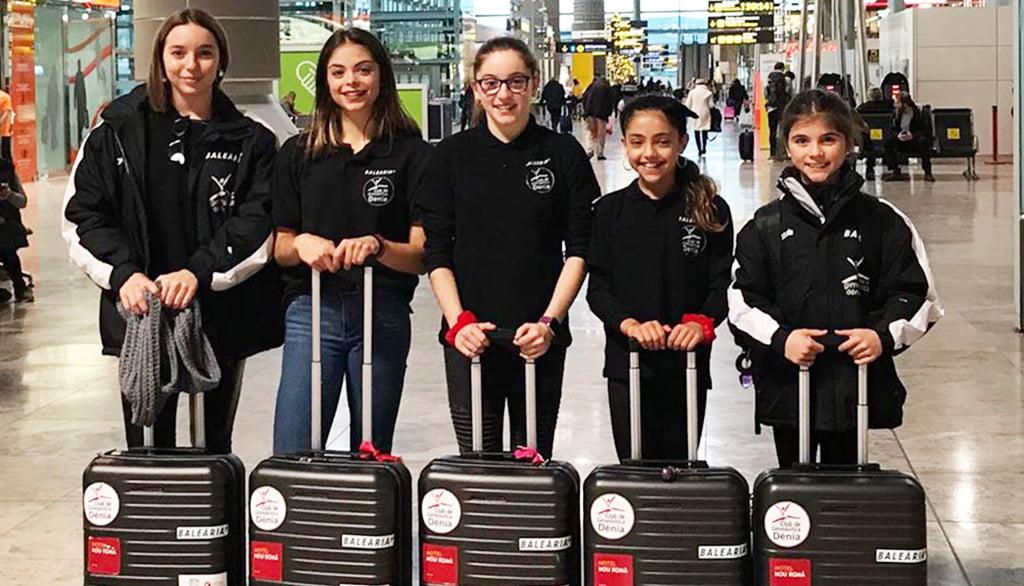 Delegación de gimnastas del Club GR Denia a Leverkusen