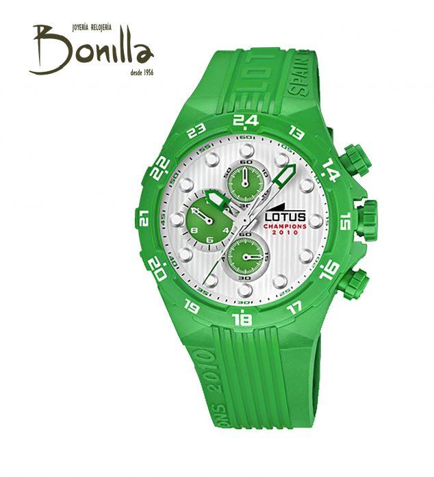 Imatge: Mega Cistella de Nadal 2019 - Joieria-Rellotgeria Bonilla i Argenteria Argent - Rellotge Lotus verd amb crono unisex