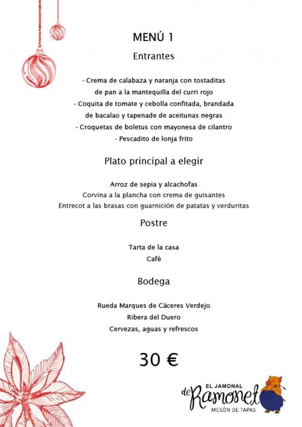 Imagen: Menú de empresa, opción 1 - El Jamonal de Ramonet