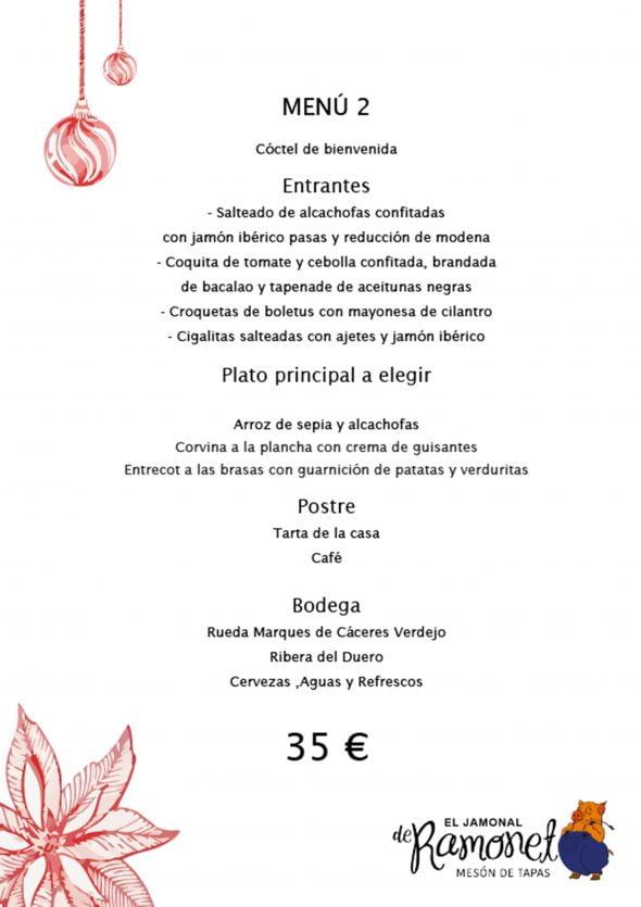 Imagen: Menú de empresa, opción 2 - El Jamonal de Ramonet