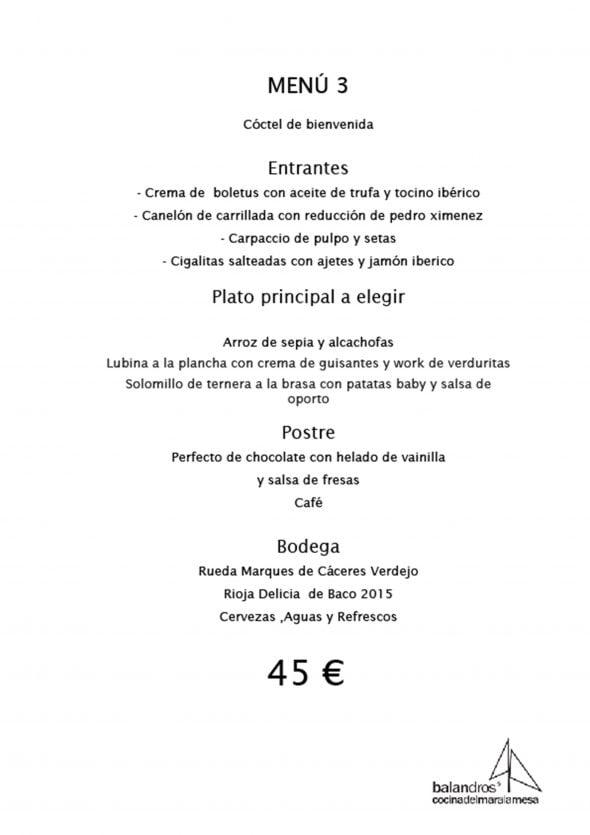 Imagen: Menú de empresa por 45€ - Restaurante Balandros