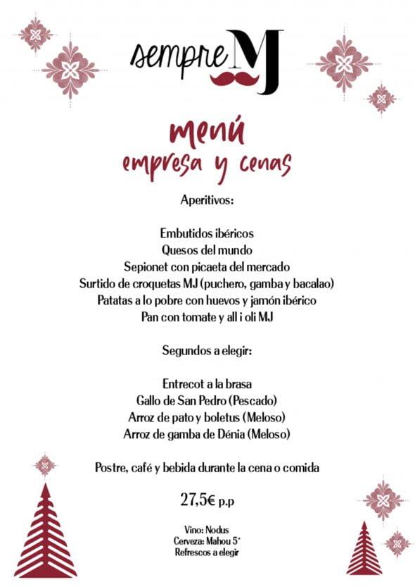 Imagen: Menú de empresa en Casa Miguel Juan