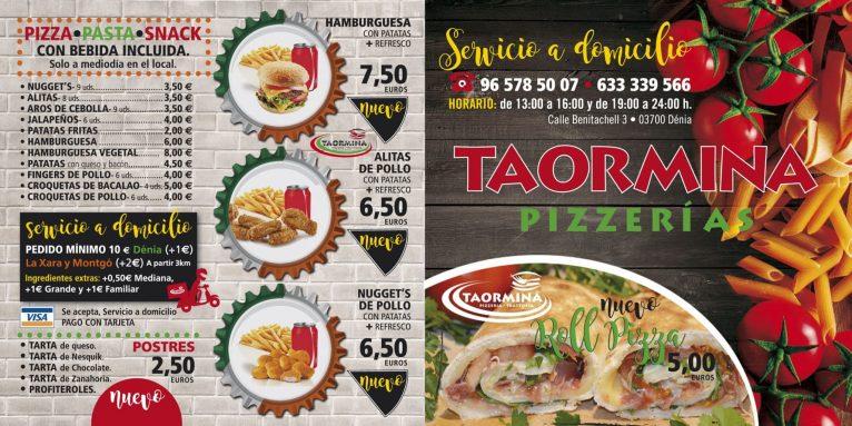 Menús en Taormina