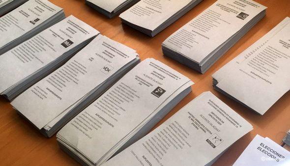 Imagen: Papeletas elecciones 10N