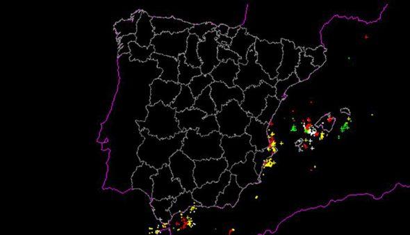 Imagen: Registro de rayos