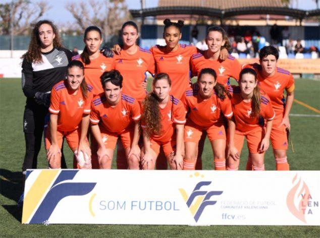 Imagen: Selección Valenciana Sub 17 con Fiamma Benítez