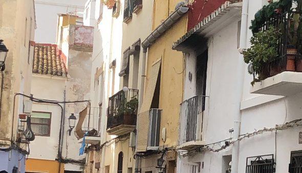 Image: Housing where the fire originated