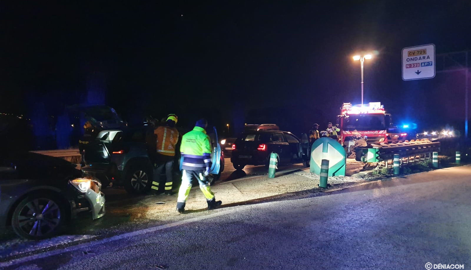 Multiple accident in the solidity of Dénia